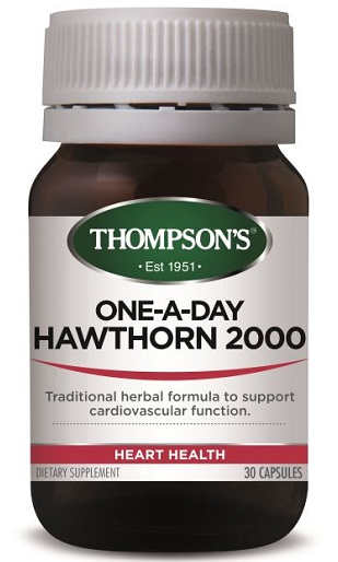 Thompson's Hawthorn 2000 One-a-Day Capsules 30 - Expiry 11/21