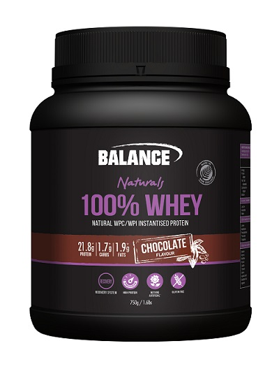 Balance 100% Whey Protein Chocolate 750g - Discontinued Size