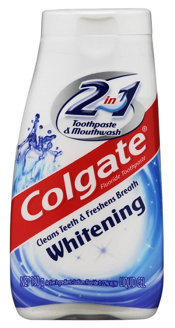 Colgate 2in1 Toothpaste & Mouthwash Liquid Gel 130g