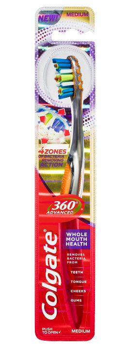 Colgate 360 Advanced Whole Mouth Clean Toothbrush - Medium