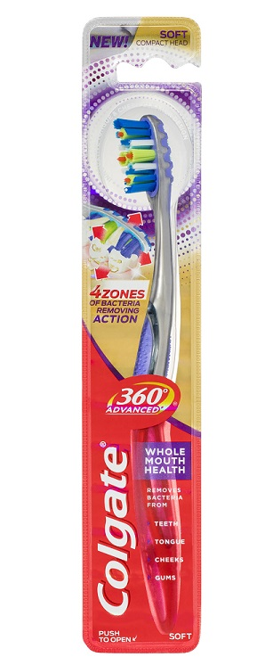 Colgate 360 Advanced Whole Mouth Clean Toothbrush - Soft