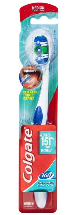 Colgate 360 Whole Mouth Clean Toothbrush - Medium