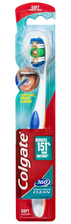 Colgate 360 Whole Mouth Clean Toothbrush - Soft