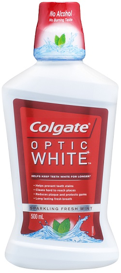 Colgate Optic White Mouthwash 500ml - Sparkling Fresh Mint