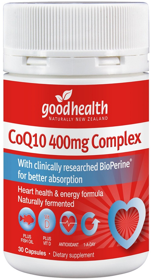 Good Health CoQ10™ 400mg Complex Capsules 30 - Expiry 01/22