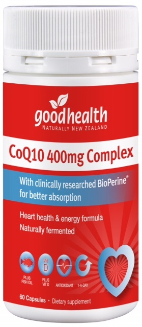 Good Health CoQ10™ 400mg Complex Capsules 60 - Expiry 01/22