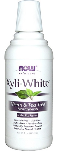 NOW - Solutions - XyliWhite Mouthwash 473ml - Neem & Tea Tree - Expiry 01/22