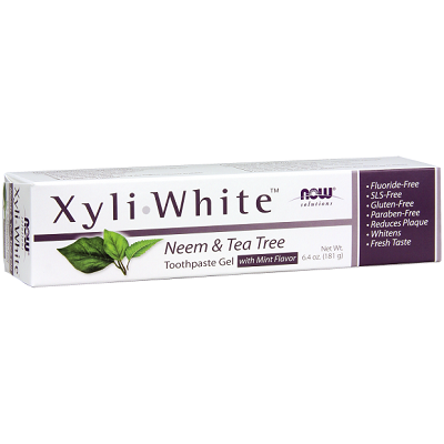 NOW - Solutions - XyliWhite Toothpaste Gel 181g - Neem & Tea Tree