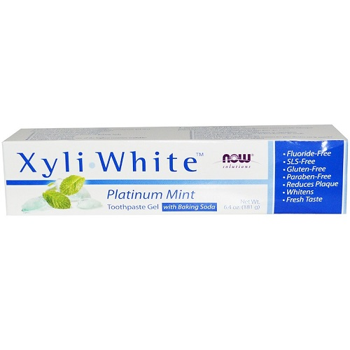 NOW - Solutions - XyliWhite Toothpaste Gel 181g - Platinum Mint With Baking Soda
