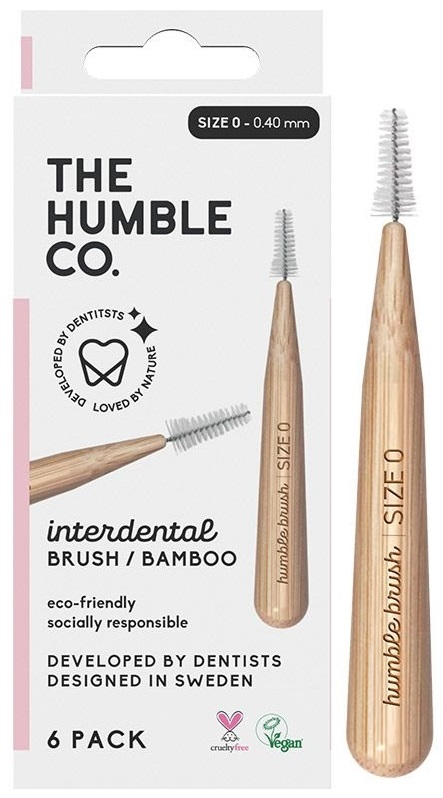 The Humble Co. Interdental Bamboo Brush Size 0 - 6 Pack