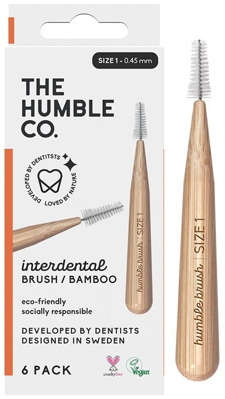 The Humble Co. Interdental Bamboo Brush Size 1 - 6 Pack