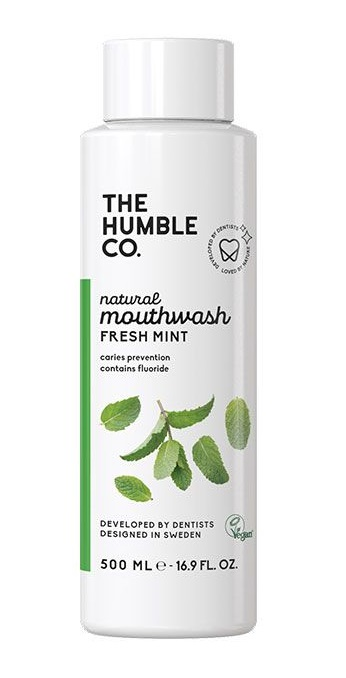 The Humble Co. Natural Mouthwash - Fresh Mint 500ml