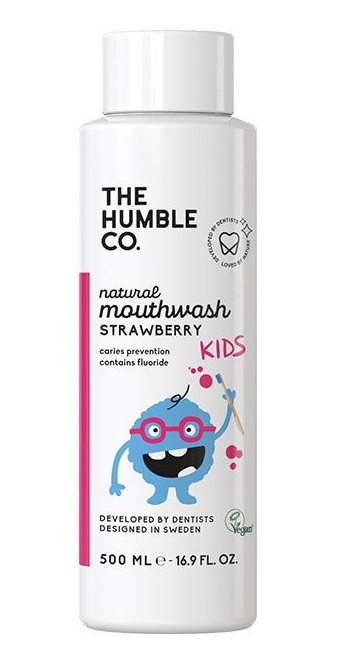 The Humble Co. Natural Mouthwash Kids - Strawberry 500ml